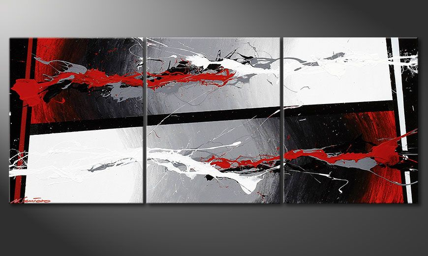Onze Shabby Chic beeld Powerful Contrast 120x50x2cm
