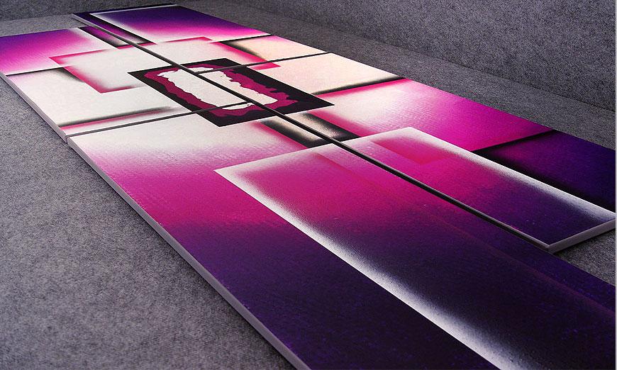 Onze XXL-Beeld Purple Sun 250x80x2cm