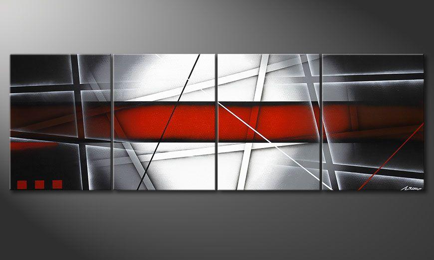 Onze XXL schilderij Focus on Essentials 240x80x2cm