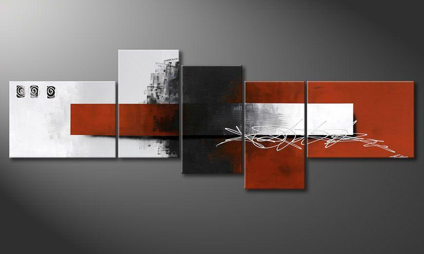 Onze XXL schilderij Follow your Dream 260x90x2cm