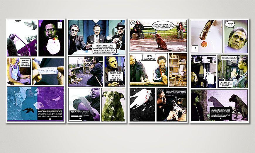 Onze print Ghost Dog 160x70x2cm