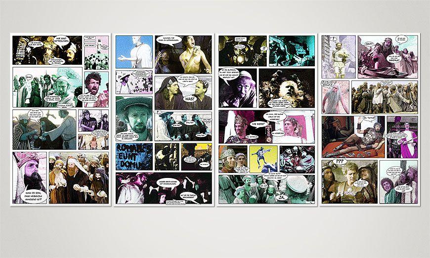 Onze print Life of Brian 160x70x2cm
