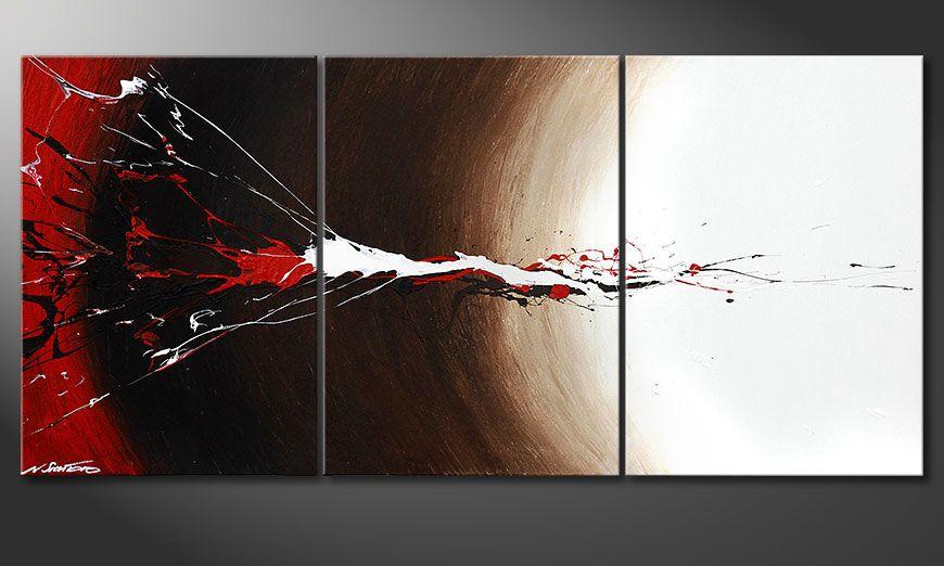 Onze schilderij Erupted Contrast 150x70x2cm