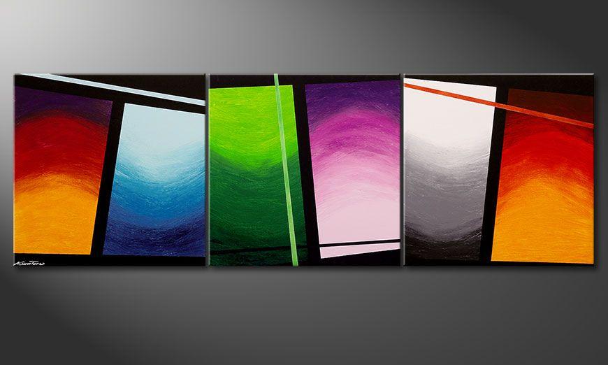 Schilderij in groot formaat Wave of Colors 240x80x2cm