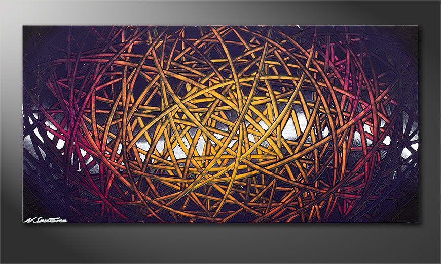 Schilderij modern Indian Moonlight 100x50x2cm