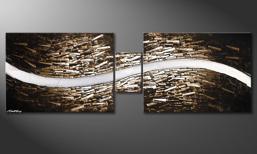 Spieraam schilderij Clear River 180x60x2cm