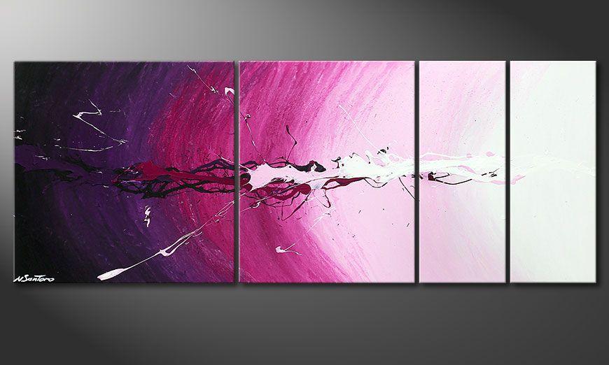Spieraam schilderij Cosmic Splash 130x50x2cm