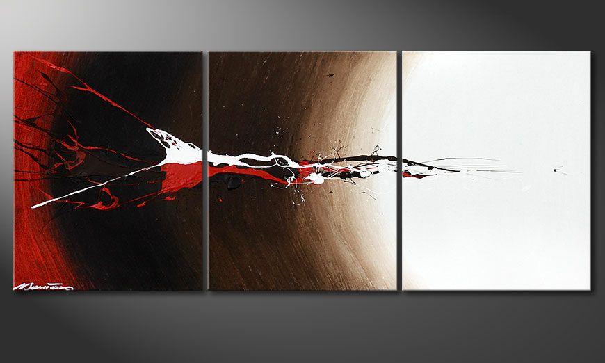 Spieraam schilderij Erupted Contrast 120x50x2cm