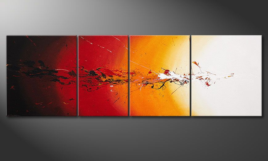 Spieraam schilderij Fiery Splash 250x80x2cm