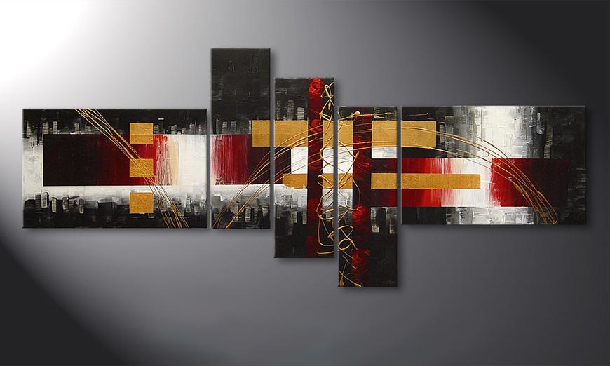Spieraam schilderij Spaces for Love 180x80x2cm