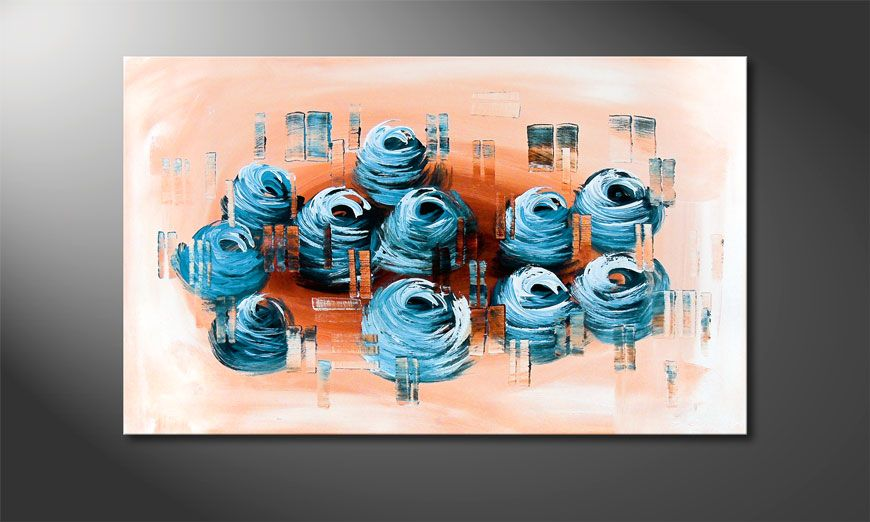 Splited Earth 100x60x2cm Schilderij