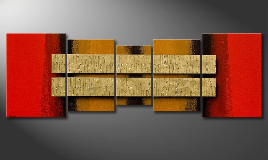 Two Treasures 210x70x2cm Schilderij