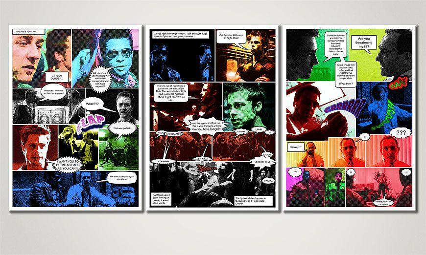 Woonkamer beeld Fight Club 150x70x2cm