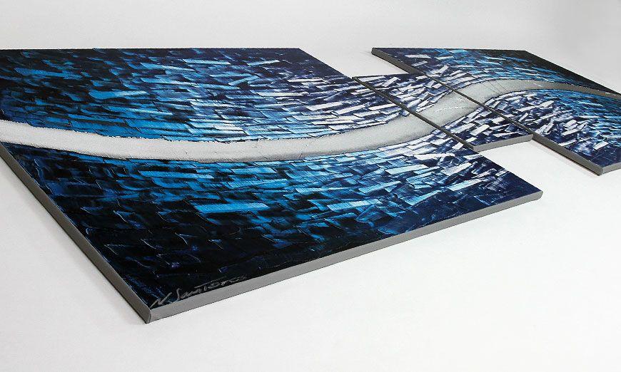 Woonkamer schilderij Arctic Stream 230x80cm - Schilderij XXL