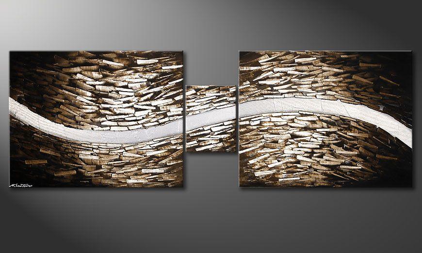 Woonkamer schilderij Clear River 230x80cm - Schilderij XXL