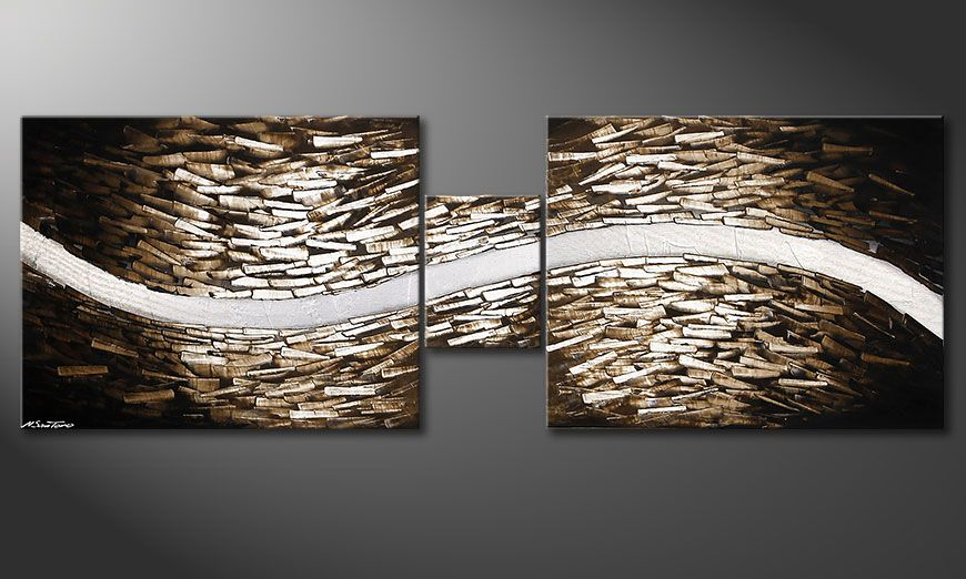 Woonkamer schilderij Clear River 230x80x2cm