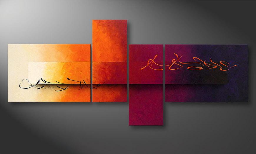 Woonkamer schilderij Day and Night 200x90x2cm