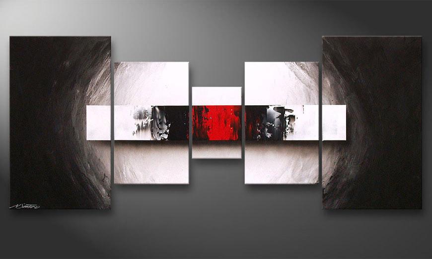 Woonkamer schilderij End of Contrast 160x70x2cm