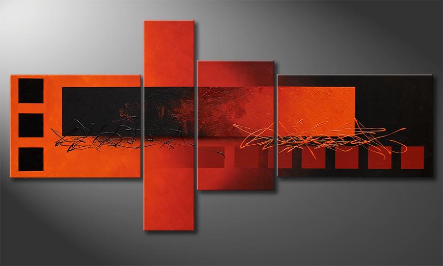 Woonkamer schilderij Fiery Emotions 160x80x2cm