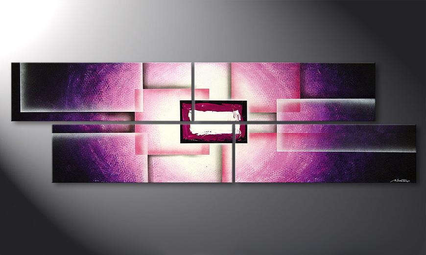 Woonkamer schilderij Purple Sun 200x60x2cm