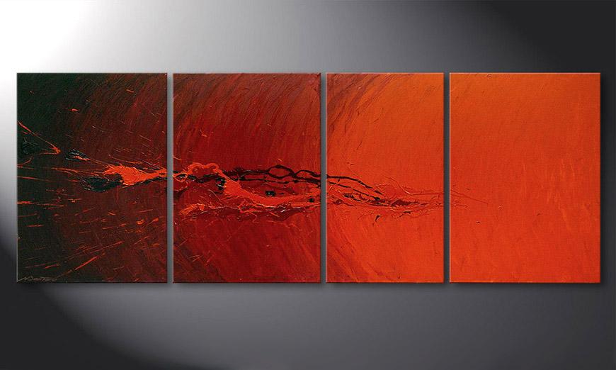 Woonkamer schilderij Splash of Glow 190x70x2cm