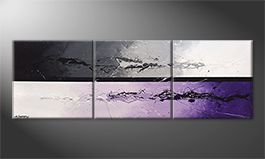 De schilderij 'Night Color Splash' 210x70cm