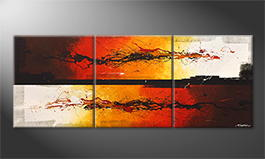 Het canvas 'Battle Of Fire' 180x70cm