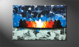 Het canvas 'Fire And Ice' 120x80cm