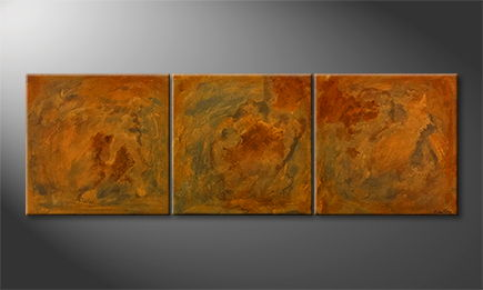 Het canvas 'Good Old Rusty' 210x70cm