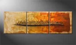 Het canvas 'Indian Sundown' 210x70cm