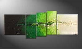 Het canvas 'Powerful Green' 210x80cm