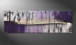 Het canvas 'Purple Dream' 210x70cm