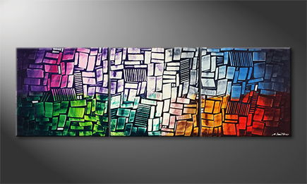 Moderne wall art 'Abstract Colors' 210x70cm