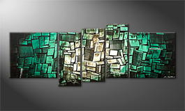 Moderne wall art 'Abstract Ocean' 210x80cm