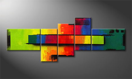 Moderne wall art 'Altered Rainbow' 210x80cm