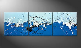 Moderne wall art 'Big Bang' 210x70cm