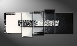 Moderne wall art 'Black And White' 190x80cm