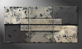 Moderne wall art 'Black Cut' 180x90cm