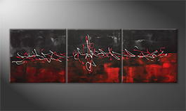 Moderne wall art 'Blending Emotions' 180x60cm