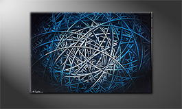 Moderne wall art 'Blue Hope' 120x80cm