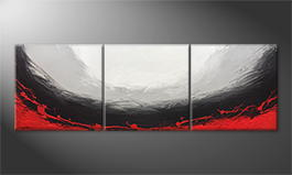 Moderne wall art 'Boiling Light' 210x70cm