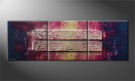 Moderne wall art 'Broken Night' 210x70cm