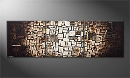 Moderne wall art 'Center Of Earth' 240x80cm