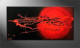 Moderne wall art 'Cosmic Eruption' 120x60cm