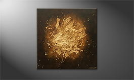 Moderne wall art 'Earth Light' 80x80cm