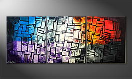 Moderne wall art 'Elements' 180x70cm