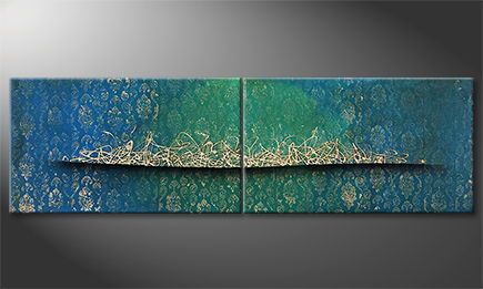 Moderne wall art 'Far Away' 200x60cm