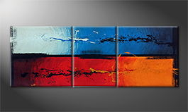 Moderne wall art 'Fire and Ice' 190x70cm