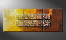 Moderne wall art 'Glassy Secret' 180x70cm