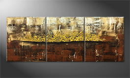 Moderne wall art 'Golden Afterglow' 180x70cm